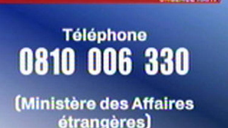 2e numéro d'urgence mis en place par le Quai d'Orsay.