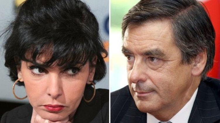 Rachida Dati et François Fillon se disputeront la deuxième circonscription de Paris aux prochaines élections législatives (AFP)