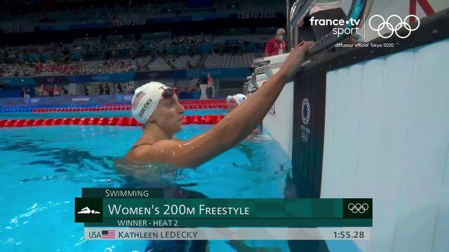 Charlotte Bonnet se contente de la quatrième place de sa série du 200m nage libre (1'56''88) remportée par la favorite américaine Kathleen Ledecky (1'55''28). La Française se qualifie néanmoins pour les demi-finales réservées aux 16 meilleurs temps.