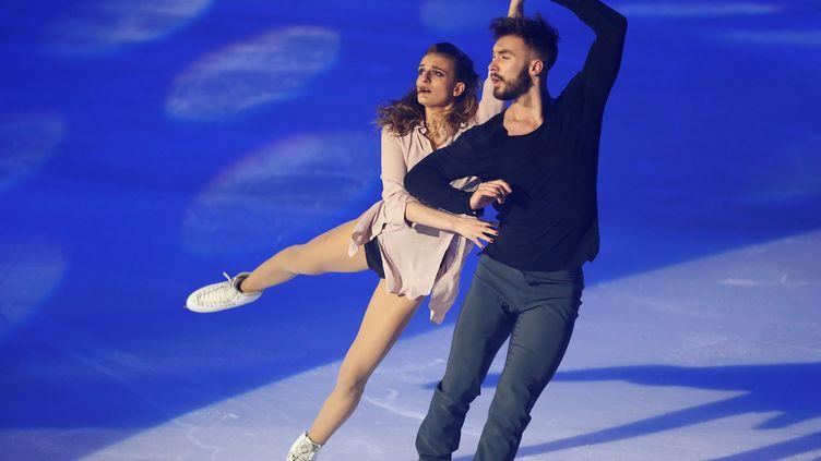 Gabriella Papadakis et Guillaume Cizeron (CHARLY TRIBALLEAU / AFP)