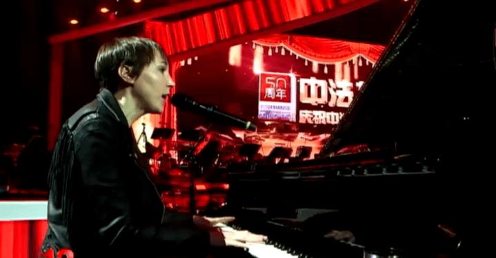 Jeanne Cherhal a participé à l'émission de la télévision publique chinoise  (France 3 culturebox)