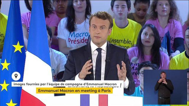 """Macron : """"Le Front national, c'est le parti de l'anti-France"""""""