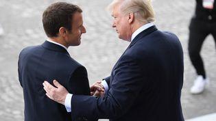 Emmanuel Macron et Donald Trump, le 14 juillet 2017, à Paris. (ALAIN JOCARD / AFP)