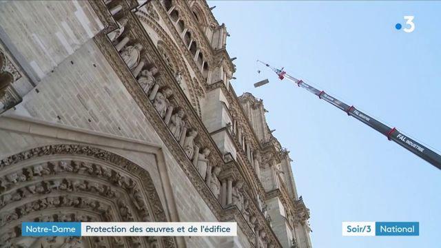 Notre-Dame : protection des œuvres et de l'édifice