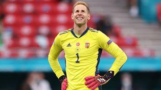 Peter Gulacsi après le match entre le Portugal et la Hongrie, le 15 àBudapest (ALEX PANTLING / POOL / AFP)