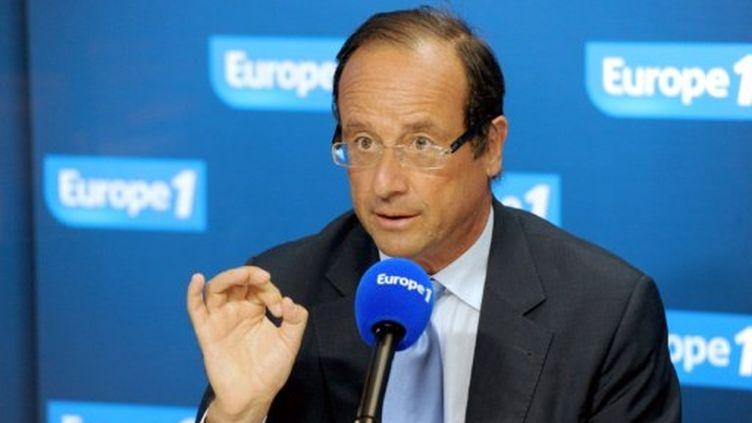 François Hollande à europe 1, le 17 août 2011 (AFP/MEHDI FEDOUACH)