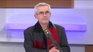 Le secrétairegénéral de Force ouvrière Yves Veyrier. (FRANCEINFO / RADIOFRANCE)