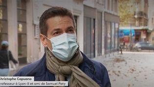 Christophe Capuano, un ami de Samuel Paty. (FRANCEINFO)