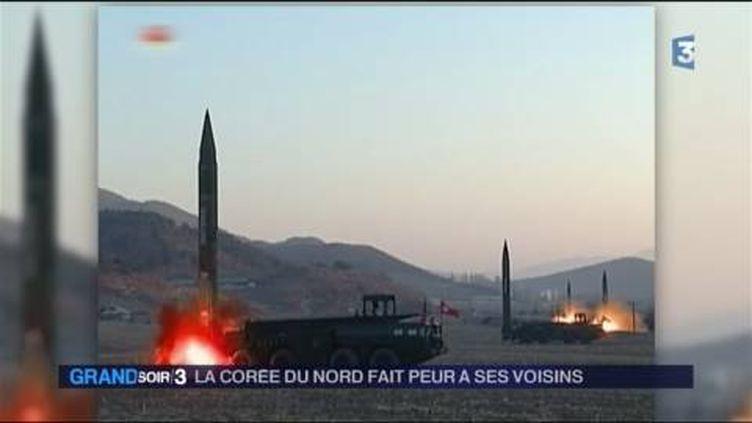 La Corée du Nord a procédé à des tirs de missiles vers la mer du Japon. (FRANCE 3)