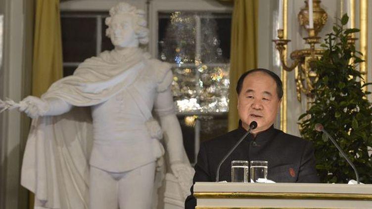 Mo Yan lors de son discours devant l'Académie Nobel (7/12/2012)  (Jonas Ekstromer / Scanpix Sweden / AFP)