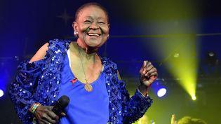 """Calypso Rose tête d'affiche du festival du """"Bout du Monde""""  (Sadaka Edmond / SIPA)"""