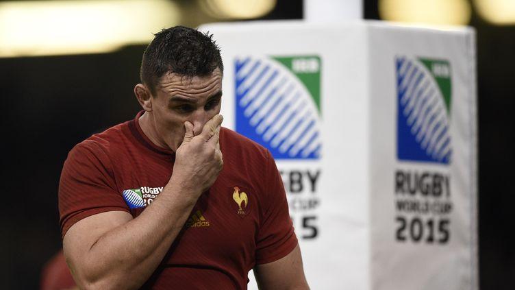 Le joueur français Louis Picamoles durant le Mondial 2015 (FRANCK FIFE / AFP)