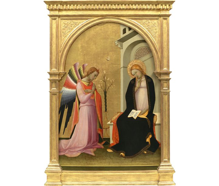 "Lorenzo Monaco, (Florence, vers 1370 – 1425), ""L'Annonciation"", vers 1420-1424, Collection Alana, Newark, DE, États-Unis, Photo (Photo © Allison Chipak)"