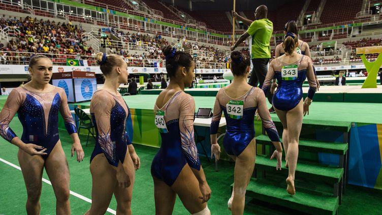 L'équipe de France féminine de gymnastique artistique retrouvera l'enceinte de Rio cet été lors des JO (YASUYOSHI CHIBA / AFP)