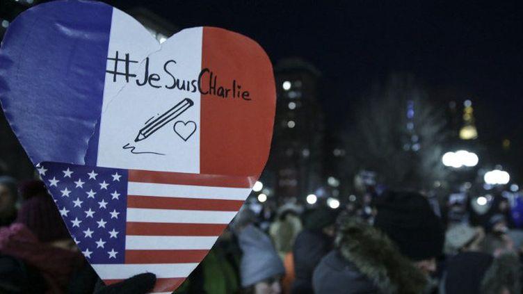 Manifestation à New York après l'attentat contre Charlie Hebdo  (Bilgin S. Sasmaz / ANADOLU AGENCY)