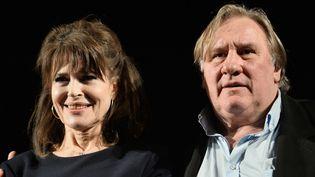 Fanny Ardant et Gérard Depardieu à Moscou, en juillet 2015.  (RAMIL SITDIKOV / RIA NOVOSTI / SPUTNIK)