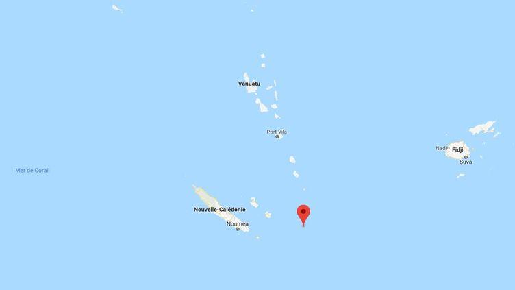 L'épicentre du tremblement de terrea été détecté, mercredi 29 août, à environ 370 kilomètres à l'est de Nouméa, en Nouvelle-Calédonie. (GOOGLE MAPS / FRANCEINFO)