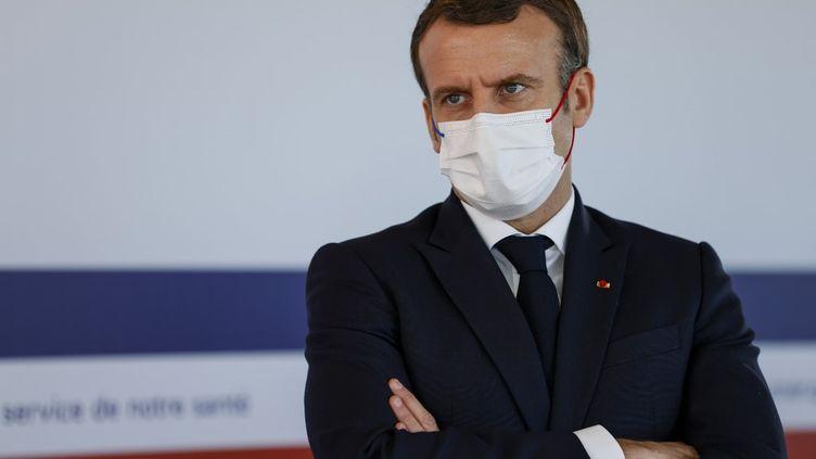 Emmanuel Macron à Paris, le 4 décembre 2020. (THOMAS SAMSON / AFP)