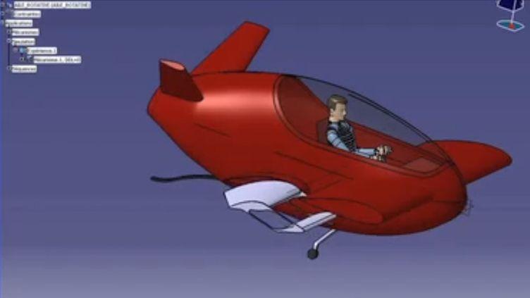 Capture d'écran d'une vidéo présentant Xplorair, voiture volante du futur sur laquelle travaille l'ingénieur toulousain Michel Aguilar. (DR)
