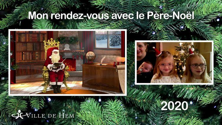 Le Père-Noël version Covid-19 en visioconférence (France Télévisions / France 3 Nord Pas-de-Calais)