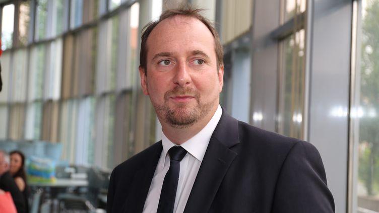 Christophe Arend, alors candidat LREM aux législatives contre le candidat du FN Florian Philippot, le 18 juin 2017, à Petite-Rosselle (Moselle). (MAXPPP)