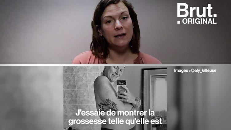 """VIDEO. """"Body positive"""" : """"J'essaie de montrer la grossesse telle qu'elle est"""", dit Yasmine (BRUT)"""