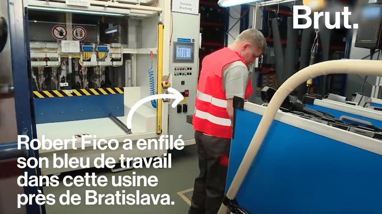 En gage de solidarité, le Premier ministre slovaque a travaillé de nuit dans une usine (BRUT)