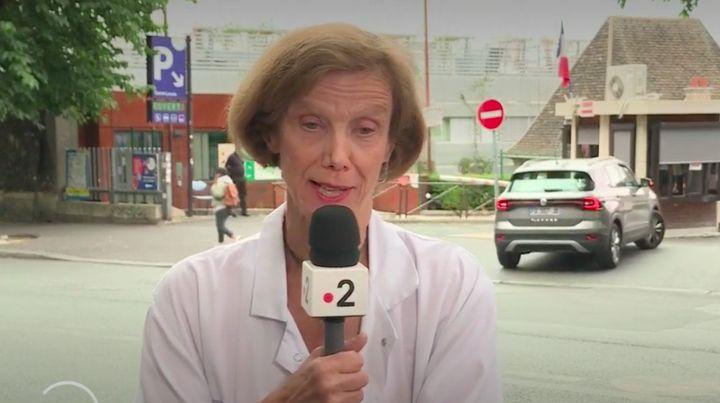 L'infectiologue Anne-Claude Crémieux, à Paris, lors d'une interview accordée à France 2, diffusée le 17 juillet 2020. (FRANCE 2)