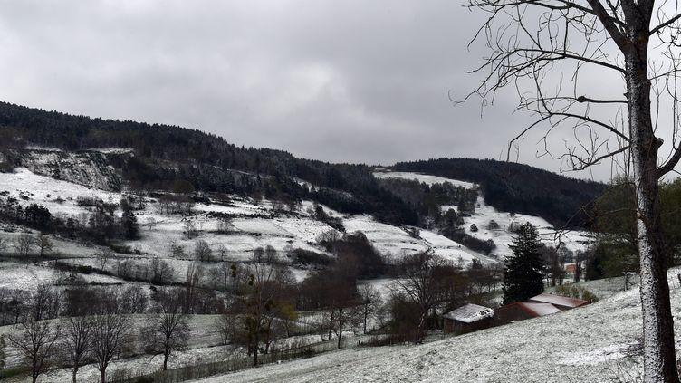 De la neige près de Saint-Etienne (Loire), le 5 mai 2019. (MAXPPP)