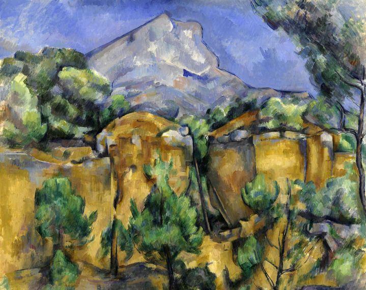 Paul Cézanne, La Montagne Sainte-Victoire vue des carrières de Bibémus,1898-1900, Baltimore Museum of Art : The Cone Collection, formed by Dr. Claribel and miss Etta Cone of Baltimore, Maryland (© The Baltimore Museum of Art/Photography By : Mitro Hood)