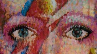 """Fresque à l'éfigie de David Bowie, époque """"Aladin Sane"""", à Brixton (G-B) B  (Alberto Pezzali / NurPhoto)"""