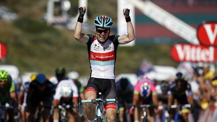 Jan Bakelants triomphe pour sa première sur le Tour (JEFF PACHOUD / AFP)