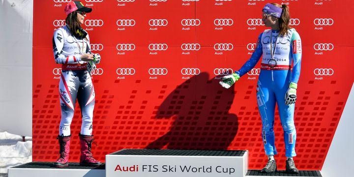 Mercredi dernier, Anna Fenninger et Tina Maze étaient montées sur le podium du classement général de la descente sans sa leader, Maria Höfl-Riesch, qui venait de chuter