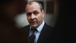 Laurent Berger, le 10 janveir 2020, à Matignon. (CHRISTOPHE ARCHAMBAULT / AFP)