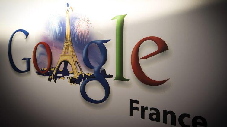 Le logo de Google, à Paris, le 10 décembre 2013. (JOEL SAGET / AFP)