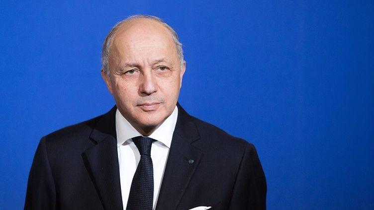 (Laurent Fabius lors de ses voeux en 2015. © Maxppp)