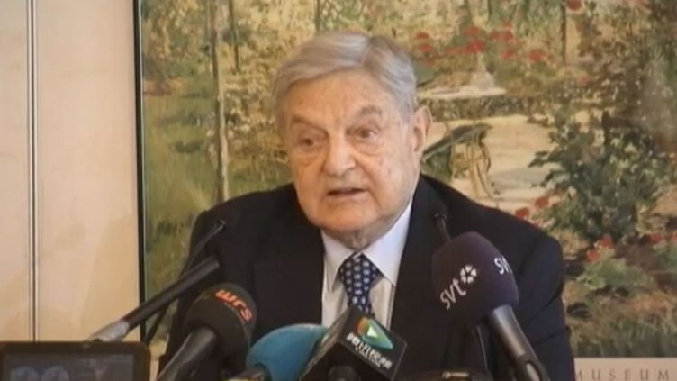 George Soros, au forum économique mondial, à Davos (Suisse), le 25 janvier 2012.