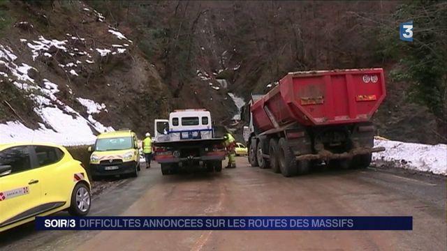 Montagne : routes bloquées et risque d'avalanche