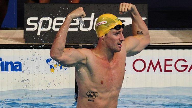James Magnussen, Champion du monde du 100m (JOSEP LAGO / AFP)
