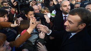 Emmanuel Macron à Tourcoing (Nord), le 14 novembre 2017. (FRANCOIS LO PRESTI / AFP)