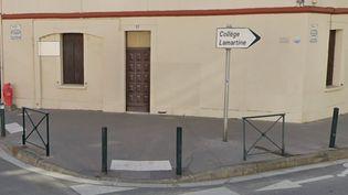 Panneau indiquant l'entrée du collège Lamartine où se sont passés les faits à Toulouse (GOOGLE MAPS / FRANCETV INFO)