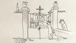 Dessin original de Mose exposé à Poitiers  (Culturebox - capture d'écran)