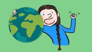 Greta Thunberg,un symbole de la lutte pour le climat et pour l'avenir de la jeunesse. (FRANCEINFO / RADIO FRANCE)
