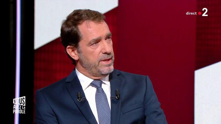 """Christophe Castaner sur le plateau de l'émission """"Vous avez la parole"""" sur France 2, le 17 octobre 2019. (FRANCE 2)"""