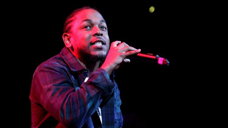 Kendrick Lamar en 2015 à New York : le rappeur estfavori des Grammys 2016 avec Taylor Swift  (Bennett Raglin / GETTY IMAGES NORTH AMERICA / AFP  )
