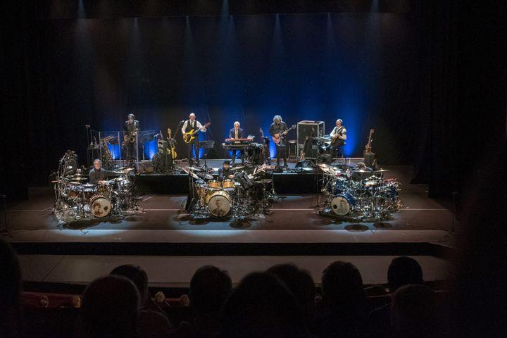 King Crimsonsur la scène du Paladium, à Londres, le 19 aout 2018 (MAXPPP)