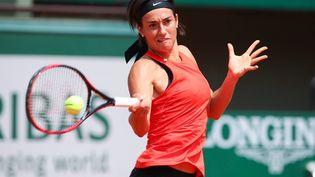 La Française Caroline Garcia lors d'une séance d'entraînement à Roland-Garros, le 24 mai 2018. (FOTOSTAND / DAVARIAN / FOTOSTAND)