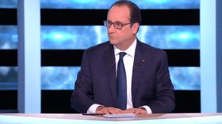 Le président de la République, François Hollande, s'exprime à la télévision, le 6 novembre 2014. (TF1)
