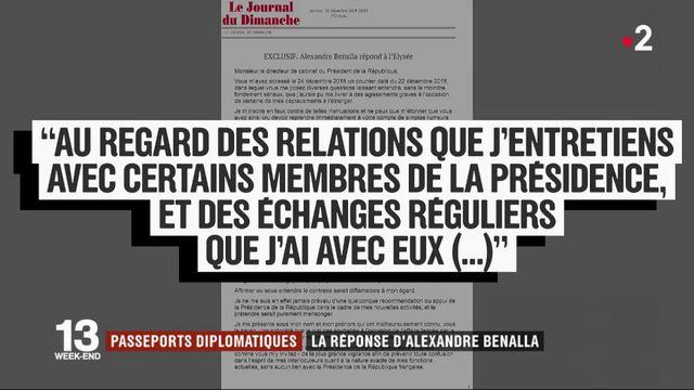 Passeports diplomatiques : la réponse d'Alexandre Benalla