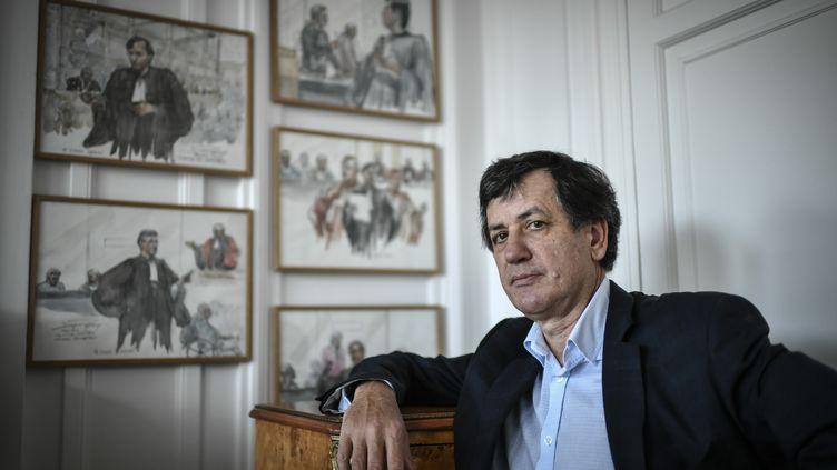 Me Didier Seban, à Paris, le 17 janvier 2020. (STEPHANE DE SAKUTIN / AFP)